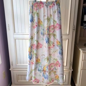 Tommy Bahama Colorful Parrot Print Maxi Skirt S